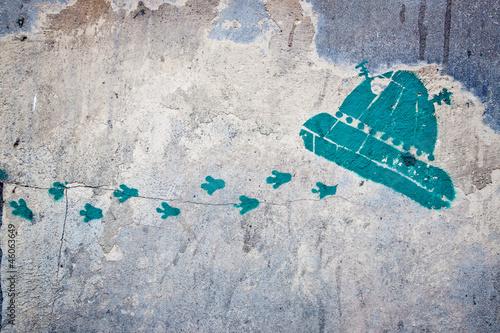 Foto op Canvas UFO space ship