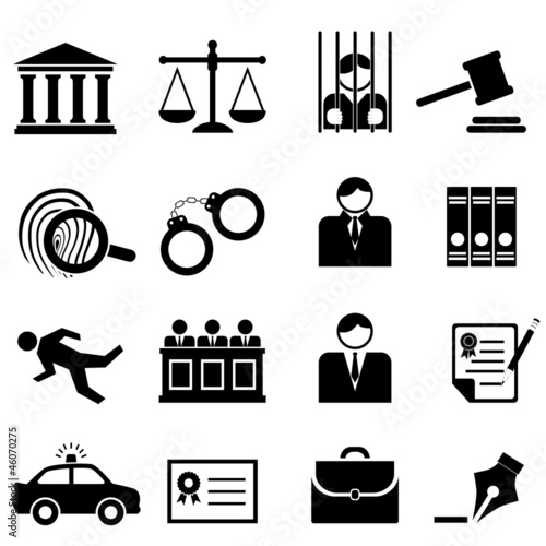 Fotografía  Legal, law and justice icons