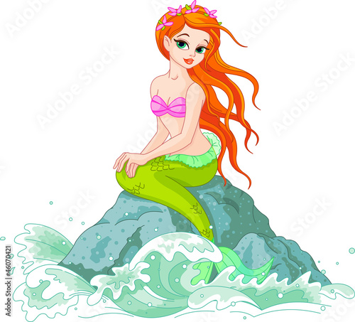 Foto op Plexiglas Zeemeermin Beautiful Mermaid