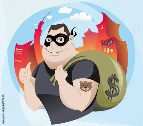 Stampa su Tela Bank Robber