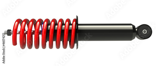 Photo shock absorber isolated on white background. 3D render.