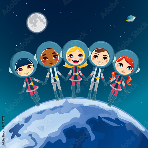 Cadres-photo bureau Cosmos Children Astronaut Dream
