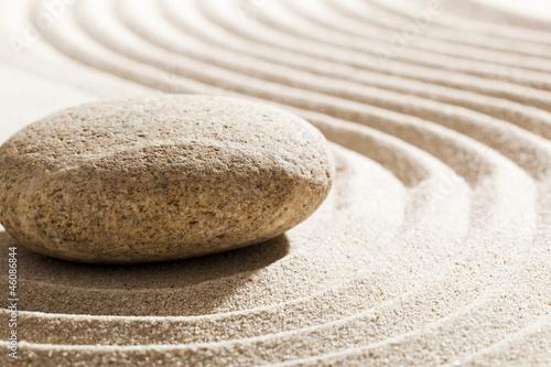 Acrylic Prints Stones in Sand zen curves in sand