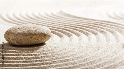 Foto op Plexiglas Stenen in het Zand traditional zen attitude