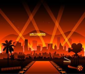 Czerwony dywan z hollywoodzkiego filmu