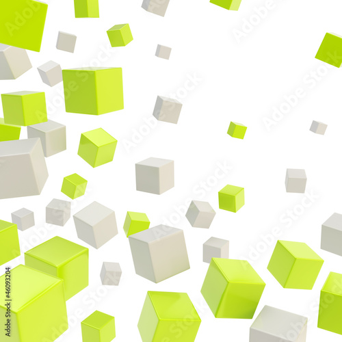 Cube copyspace composition as abstract backdrop
