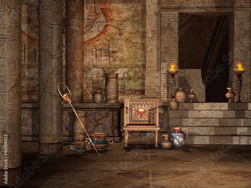 Fototapeta Wnętrze egipskiej świątyni obraz