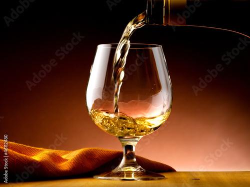 Photo bicchiere di cognac