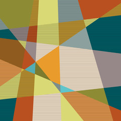 NaklejkaTextured retro geometric background