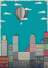 Grad i zračni balon