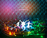 Abstract  music event design. vector illustration.