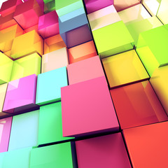 fondo abstracto de cubos de colores