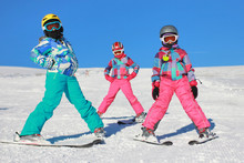 Children On The Ski On The Mou...