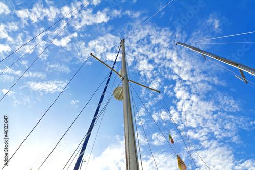 Tablou Canvas Mast of a sailing boat
