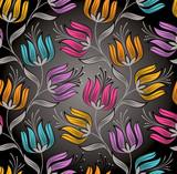 Seamless wallpaper of fancy lotus flower
