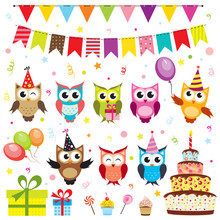 Set Of Vector Birthday Party E...