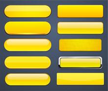 Yellow High-detailed Modern Web Buttons.