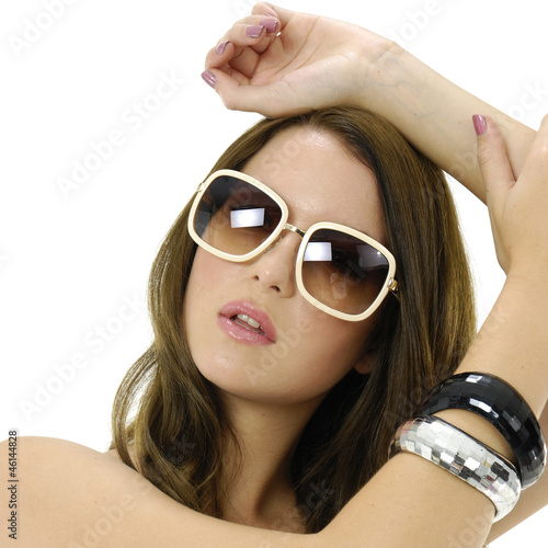 34edf8e79 beautiful sexy woman with stylish sunglasses - Buy this stock photo ...