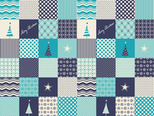 Seamless Patchwork Christmas P...