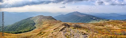 Panorama na Karpatach
