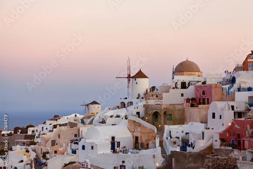 Fototapety, obrazy: Pink sunrises in Santorini