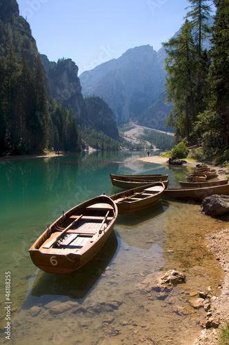 Plakat Jezioro Braies - Dolomity - Alpy