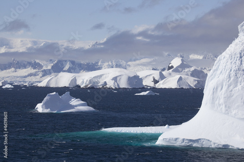 Cruising down the Gerlache Strait, Antarctica