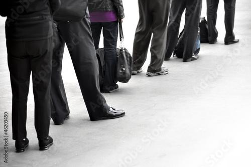 Fotografie, Obraz  People in queue