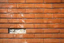 Brick Wall With Missing Brick
