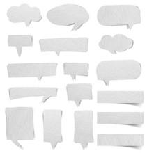 Paper Texture Of Speech Bubbles