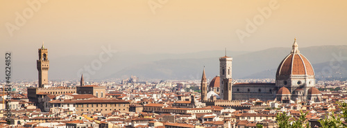 Spoed Foto op Canvas Florence Florence Duomo view