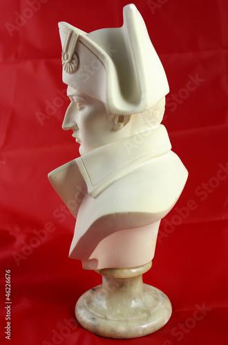 Buste Napoléon 1er empereur - profil albâtre Canvas Print
