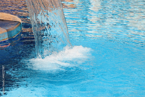 Hydrotherapy waterfall in spa Canvas-taulu