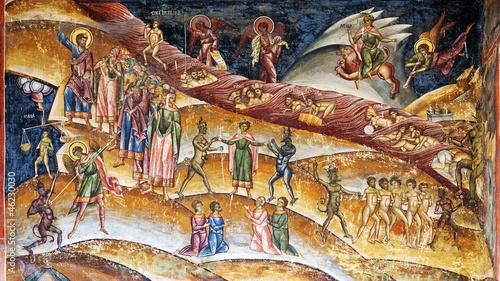 Photo Christian purgatory fresco