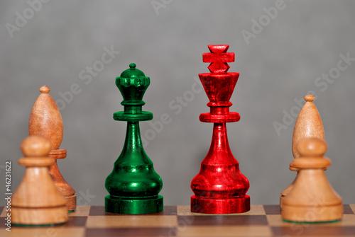 Fototapety, obrazy: Rotgrüner Schachzug