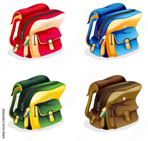 Fotobehang Cars school bags