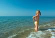 ittle girl on the beach
