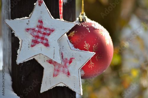 Foto-Leinwand ohne Rahmen - Weihnachtsstern Schnee (von sonne_fleckl)