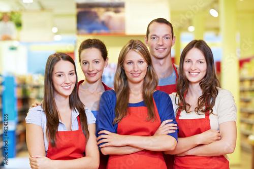 Tableau sur Toile Starkes Supermarkt-Team