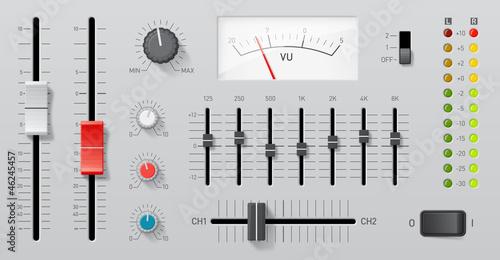 Fotografie, Obraz  Controles audio vectoriels 1
