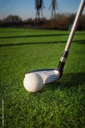 Poster Golf A golf club on a golf course