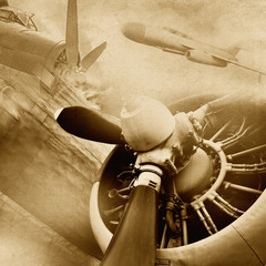 FototapetaRetro aviation, vintage background