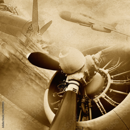 Carta da parati Retro aviation, vintage background
