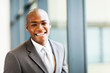 smart african american businessman in office