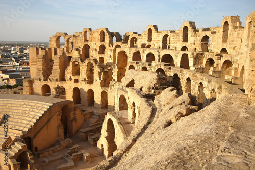 Photo sur Toile Tunisie El Djem Amphitheatre in Tunisia