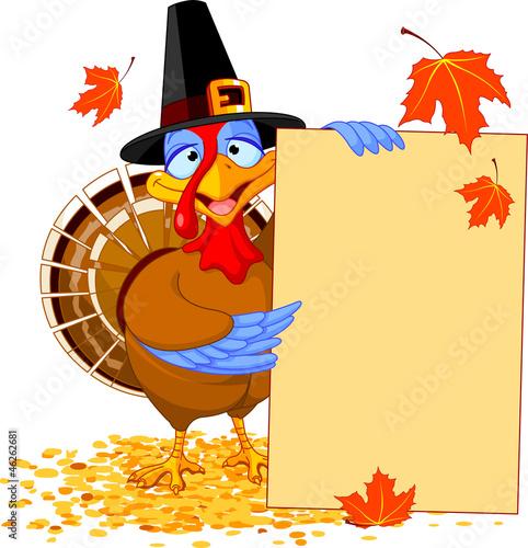 Fotografie, Obraz  Turkey with Holiday Note