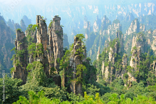 Poster China Zhangjiajie natural scenery in China