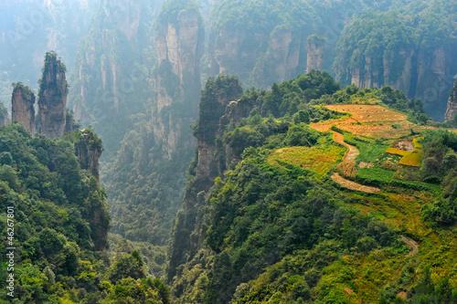 Zhangjiajie natural scenery in China ( Heavenly Garden ) Poster