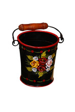 A Traditional Bargeware Art Designed Metal Bucket.