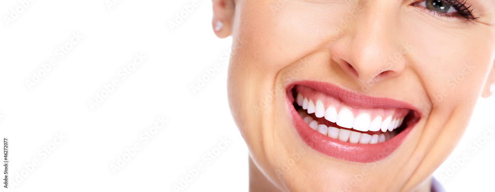 Fototapeta Beautiful woman smile.